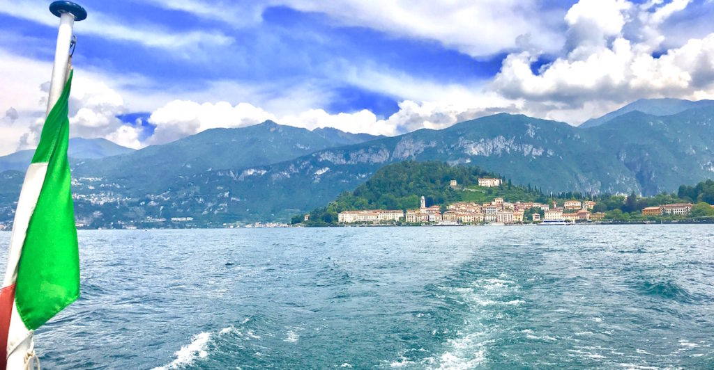 Bellagio seen from the Lake Como boat hire