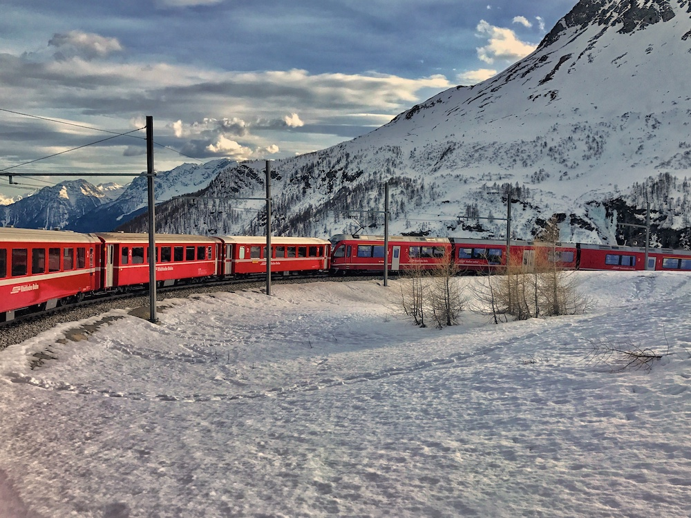 Bernina Express and St Moritz tour from Lake Como