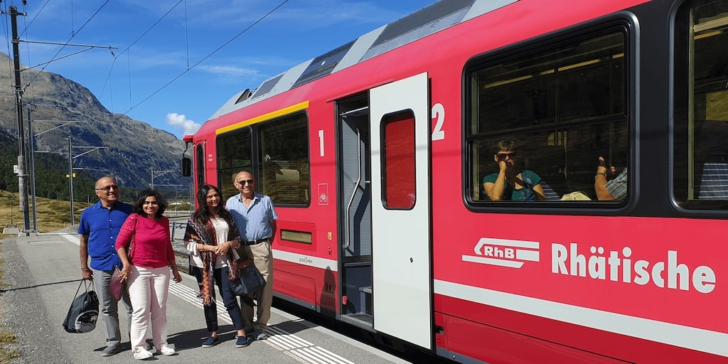Bernina train and St. Moritz private guided tour